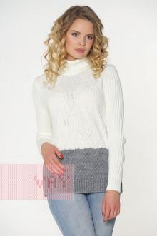 Свитер женский 4585 Фемина (Серый/молоко)