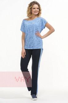 Брюки женские 3406 Фемина (Темно-синий/голубой)