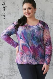"""Блуза """"Её-стиль"""" 1128 ЕЁ-стиль (Сирень)"""